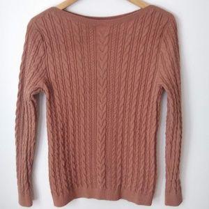 Lands' End Knit Scoop Sweater